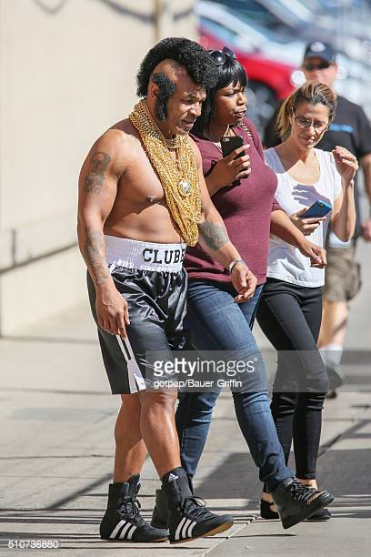 Mike Tyson is seen outside 'Jimmy Kimmel Live' on February 16 2016 in Los Angeles California