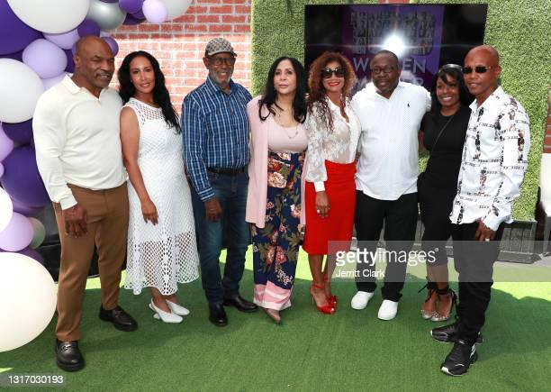 "Mike Tyson, Lakiha ""Kiki"" Spicer, Shamsud din Ali, Rita Ali, Alicia Etheredge, Bobby Brown, Dee Dee and Zab Judah attend the 100 Women Matter..."