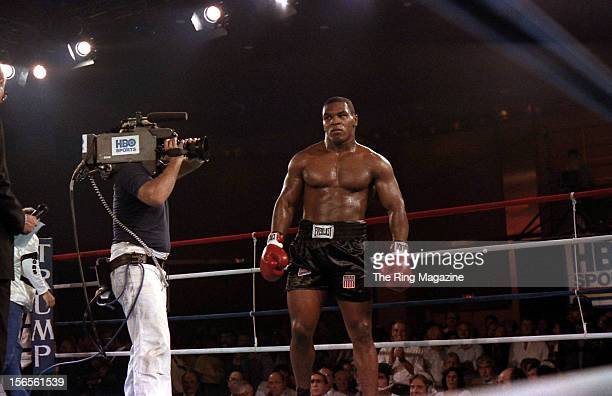 Mike Tyson looks to make his move against Jose Ribalta during a bout at Trump Plaza Hotel on August 17 1986 in Atlantic City New JerseyMike Tyson...