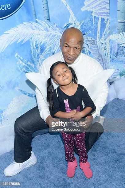 Mike Tyson Milan Tyson attend Secret Of Wings New York Premiere at AMC Loews Lincoln Square on October 20 2012 in New York City