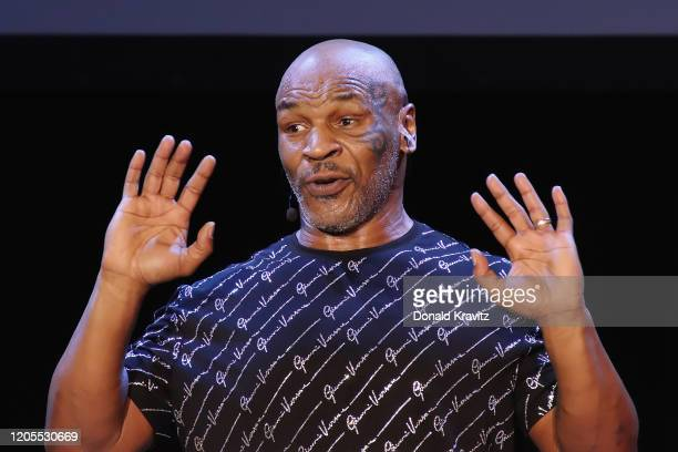 Mike Tyson performs his one man show Undisputed Truth in the Music Box at the Borgata on March 6 2020 in Atlantic City New Jersey