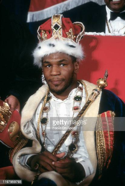 Mike Tyson poses for this portrait prior to fighting James Smith for the WBA and WBC Heavyweight tittles on March 7, 1987 at the Las Vegas Hilton in...