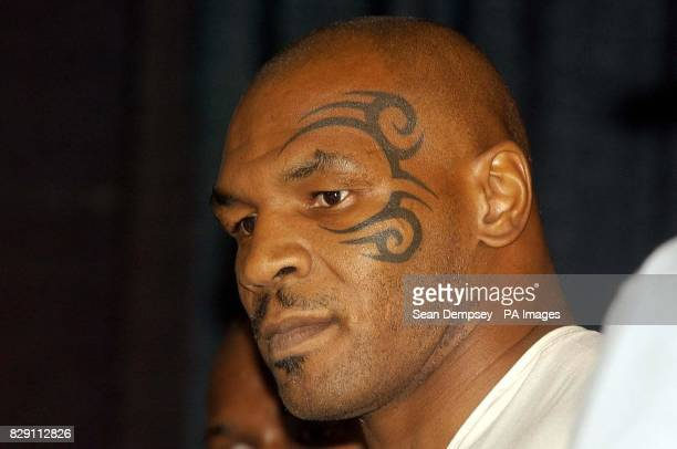 Mike Tyson weighs in at 16st 9lbs in Louisville Kentucky in the United States of America the home city of Muhammad Ali on the eve of his heavyweight...