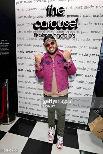 Mike 'Upscale Vandal' Camargo attends as Bloomingdale's celebrates The Carousel Past Made Present on November 8 2018 in New York City