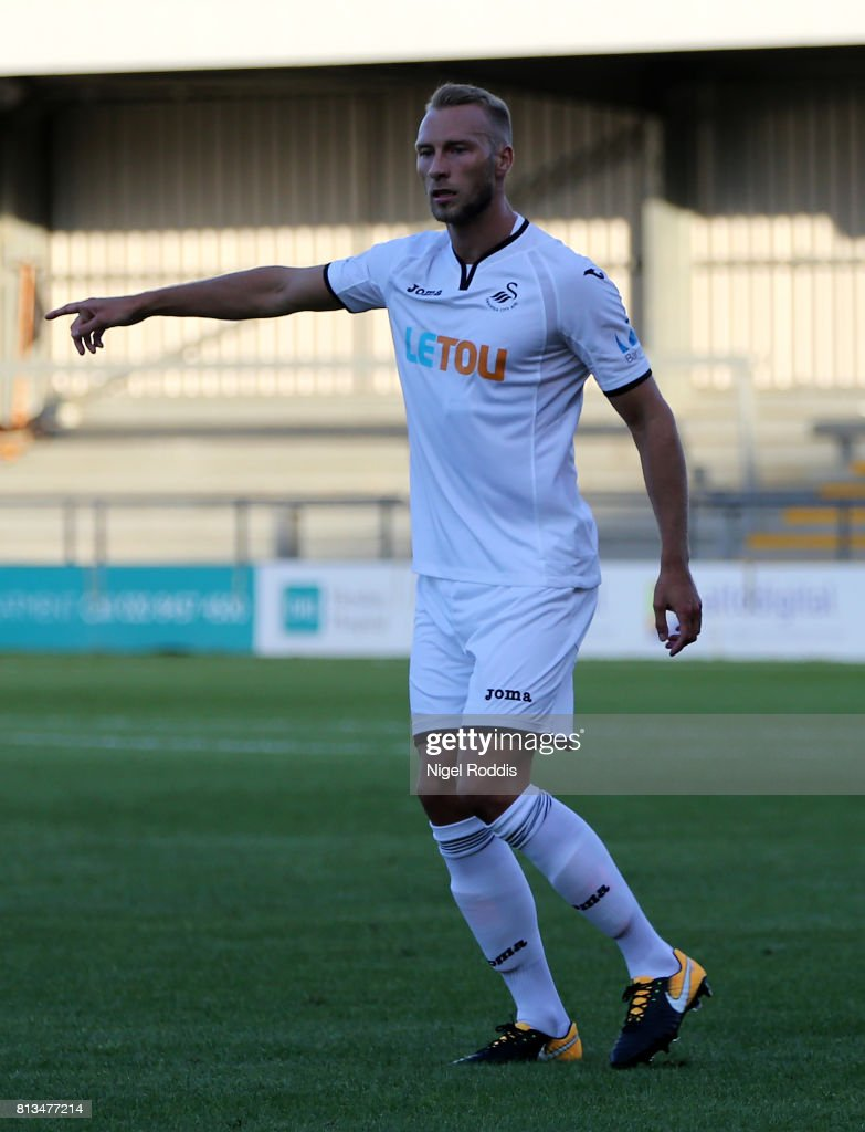 Mike Van Der Moorn of Swansea City during the pre season friendly match between Barnet and Swansea City at The Hive on July 12, 2017 in Barnet, England.