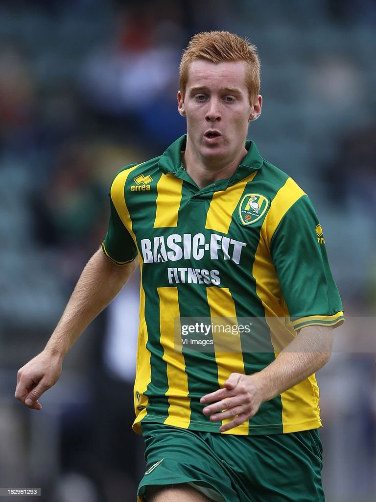 Mike van Duinen of ADO Den Haag during the Dutch Eredivisie match between ADO Den Haag and Vitesse on Oktober 2, 2013 at the Kyocera stadium in The Hague, The Netherlands.