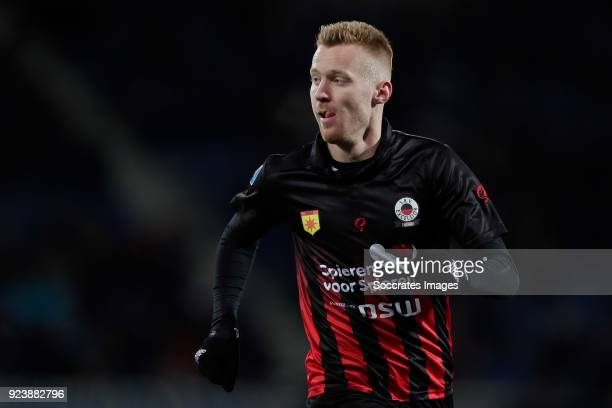 Mike van Duinen of Excelsior during the Dutch Eredivisie match between SC Heerenveen v Excelsior at the Abe Lenstra Stadium on February 24 2018 in...