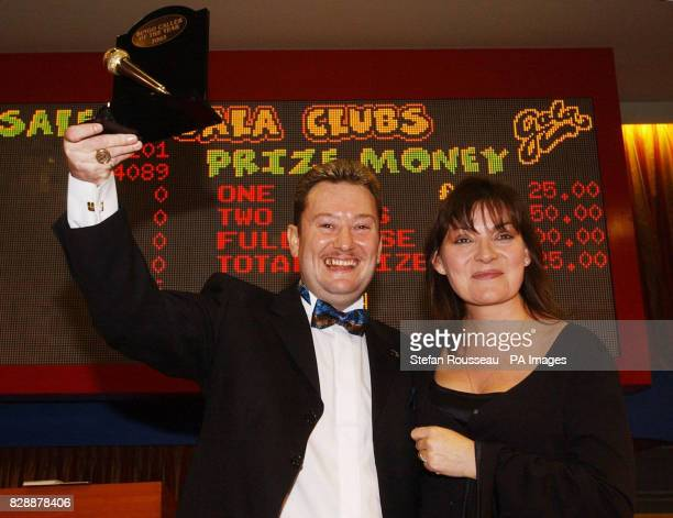 Mike Vyse from Swansea celebrating after being judged to be Britain's Bingo Caller of the Year at the Gala Bingo Club in south east London with...