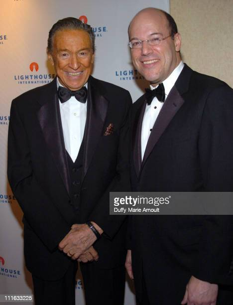 Mike Wallace and Ari Fleischer during 2006 Lighthouse International Winternight Gala at Marriott Marquis in New York City New York United States