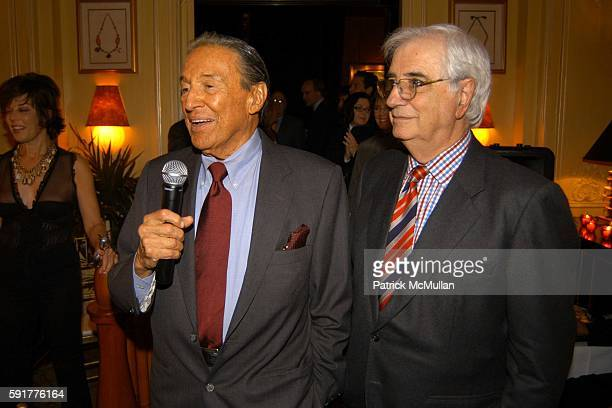 Mike Wallace and Bill Rollnick attend A Celebration of Mike Wallace's New Book 'Between You and Me' at Arabelle on October 25 2005 in New York City