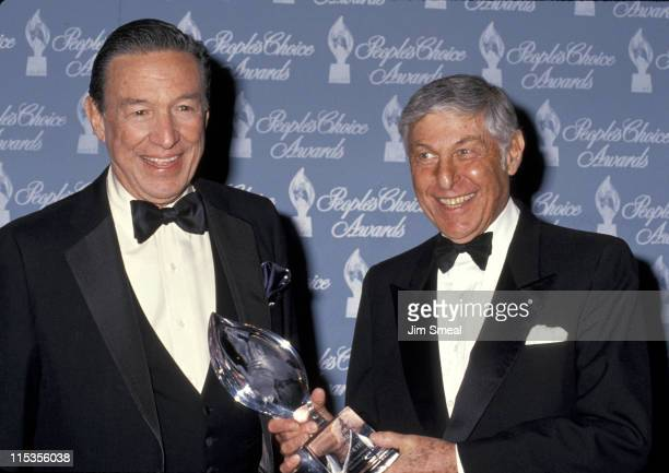 Mike Wallace and Don Hewitt during 17th Annual People's Choice Awards at Paramount Studios in Hollywood, California, United States.