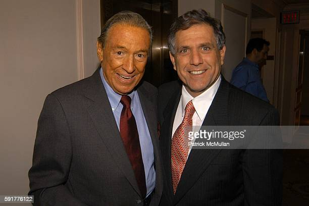 Mike Wallace and Leslie Moonves attend A Celebration of Mike Wallace's New Book 'Between You and Me' at Arabelle on October 25 2005 in New York City