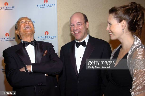 Mike Wallace Ari Fleischer and Becky Fleischer during 2006 Lighthouse International Winternight Gala at Marriott Marquis in New York City New York...