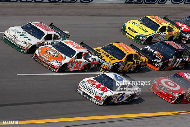 Mike Wallace, driver of the Realtree Chevrolet, Tony Stewart, driver of the Subway/Home Depot Toyota, Dale Earnhardt Jr., driver of the AMP...