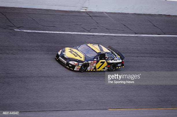 Mike Wallace drives his car during practice for the Daytona 500 at the Daytona International Speedway on February 17 2001 in Daytona Beach Florida