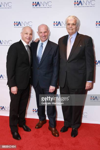 Mike Warren Jonathan Tisch and Ed Kane during the Hotel Association of New York City hosts 'The Red Carpet Hospitality Gala' HANYC's Annual...