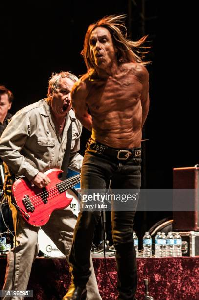 Mike Watt and Iggy Pop performing at May Farms in Byers Colorado on September 21 2013