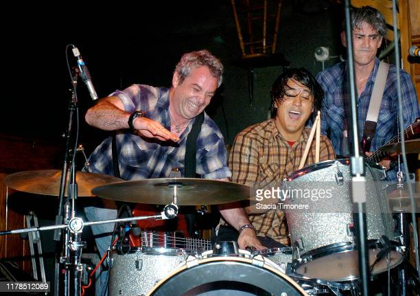 Mike Watt and The Missingmen with Raul Morales on drums and Tom Watson on guitar onstage at Schuba's Chicago Illinois United States on May 14 2009