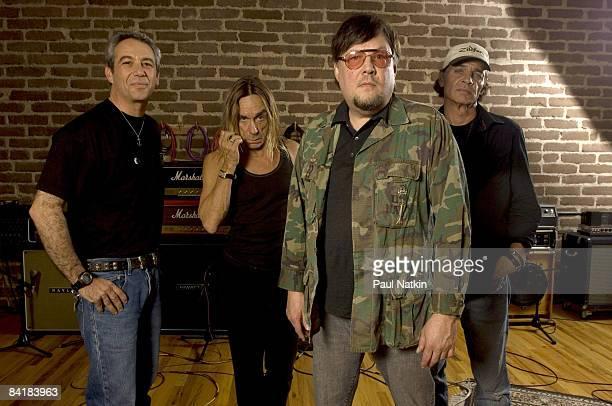 Mike Watt Iggy Pop Ron Asheton and Scott Asheton of the Stooges