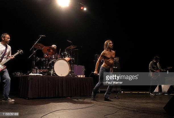 Mike Watt Scott Asheton Iggy Pop and Ron Asheton of The Stooges
