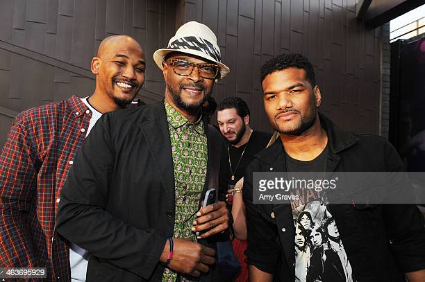 Mike Wayans Damon Wayans and Damian Wayans attend Vanessa Simmons Baby Shower at Sugar Factory Hollywood on January 18 2014 in Los Angeles California