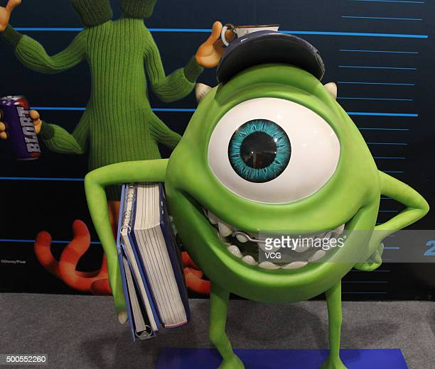 Mike Wazowski is on display at CapitaMall 1818 on December 5 2015 in Wuhan Hubei Province of China Disney Characters exhibition was held in the Wuhan...