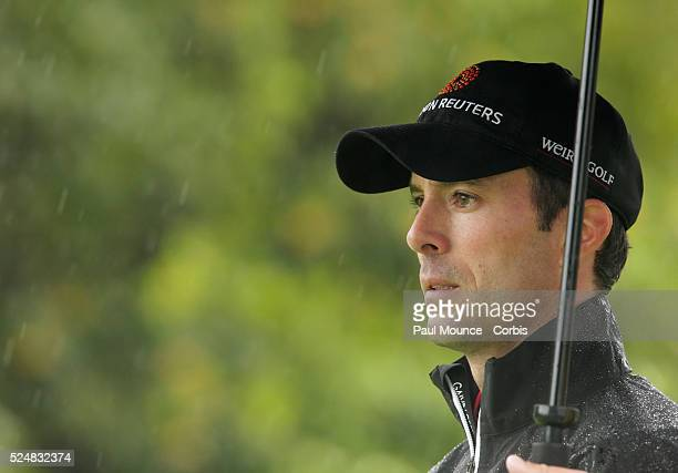 Mike Weir during the second day of play at the Northern Trust Open held at Riviera Country Club
