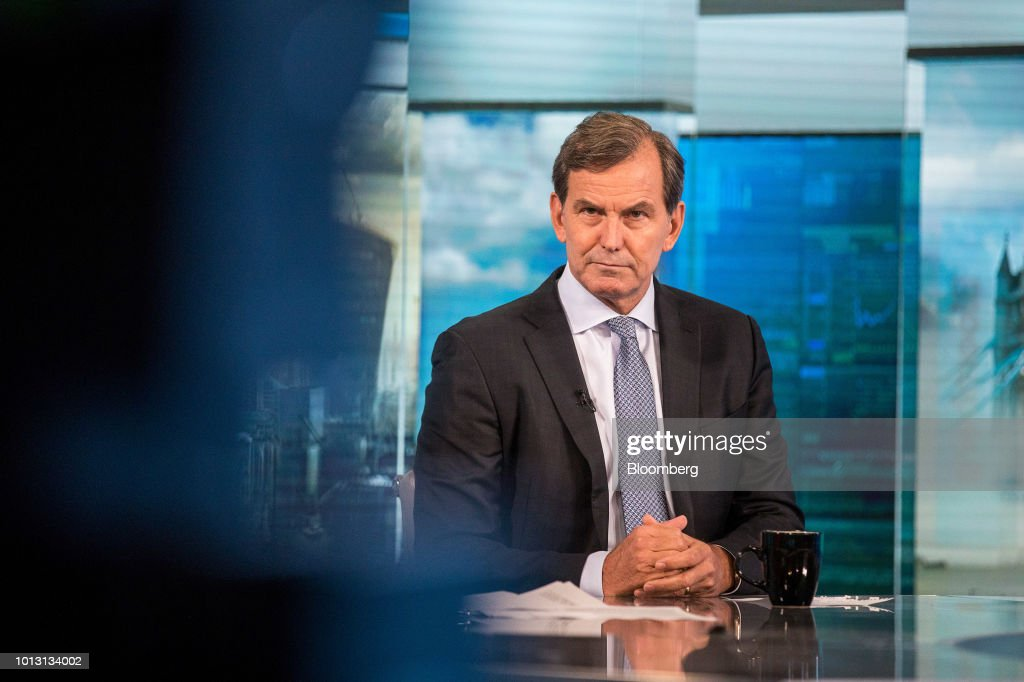 Mike Wells, chief executive officer of Prudential Plc, pauses during a Bloomberg Television interview in London, U.K., on Wednesday, Aug. 8, 2018. Prudential reported that first-half profit from its Asian operations soared 14 percent to 1.02 billion pounds ($1.3 billion) on a constant exchange rate basis, ahead of a spinoff that would separate its U.K. operations from faster-growing markets elsewhere. Photographer: Simon Dawson/Bloomberg via Getty Images