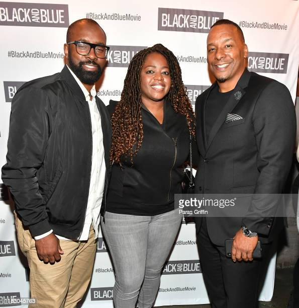 Mike Whittley Dora Whittley and Deon Taylor attend Black and Blue Atlanta special screening after party at Sweet Auburn BBQ on October 23 2019 in...