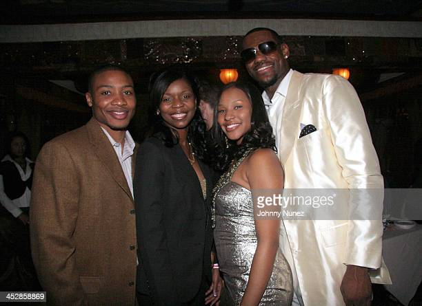 Mike Wikles and wife with Savannah Brinson and LeBron James *Exclusive Coverage*