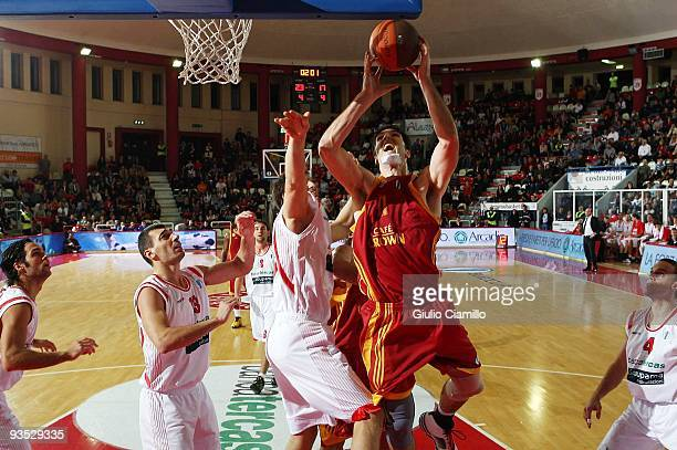 Mike Wilkinson, #11 of Galatasaray Cafe Crown goes for the basket during the Eurocup Basketball Regular Season Game Day 2 between Bancatercas Teramo...