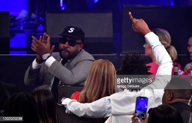 "Mike Will, Beyoncé and Jay-Z attend the Pre-GRAMMY Gala and GRAMMY Salute to Industry Icons Honoring Sean ""Diddy"" Combs on January 25, 2020 in..."