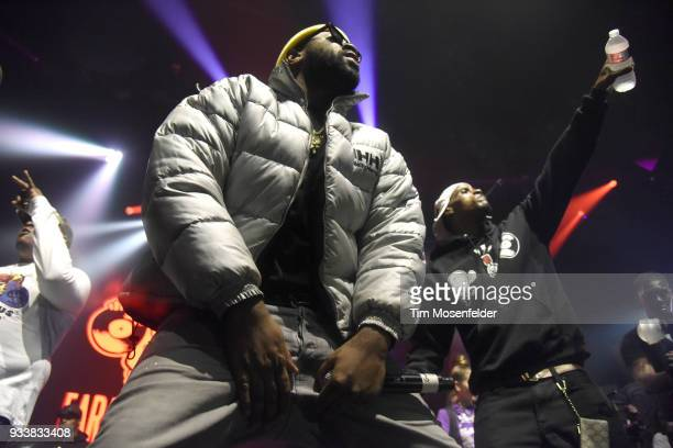 Mike Will Made It performs during the SXSW Takeover Eardummers Takeover at ACL Live at the Moody Theatre during SXSW 2018 on March 16 2018 in Austin...