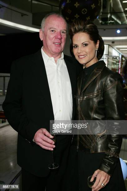 Mike Willesee and Gordana Willesee arrive for the official opening of the Louis Vuitton store in Bondi on July 7 2009 in Sydney Australia