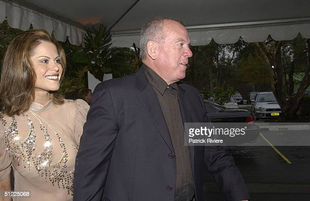 Mike Willesee and his wife Gordana at the Channel Nine predrinks party for Brian Henderson 'Toasted and Roasted' Special farwell after 46 years in TV...