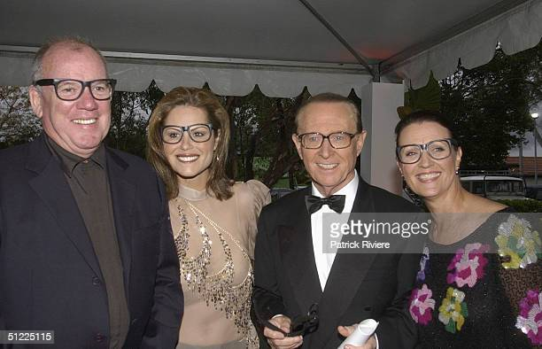 Mike Willesee with his wife Gordana and Brian Henderson with his wife Mardi at the Channel Nine predrinks party for Brian Henderson 'Toasted and...