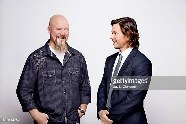 Mike Williams and actor Mark Whalberg from the film Deep Water Horizon pose for a portraits at the Toronto International Film Festival for Los...