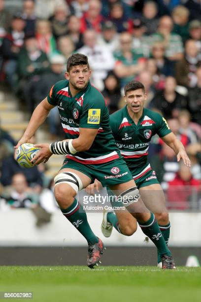 Mike Williams of Leicester Tigers during the Aviva Premiership game between Leicester Tigers and Exeter Chiefs at Welford Road on September 30 2017...