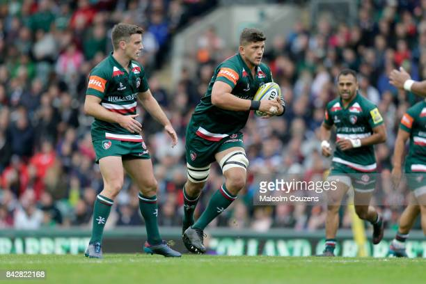 Mike Williams of Leicester Tigers during the Aviva Premiership match between Leicester Tigers and Bath Rugby at Welford Road on September 3 2017 in...
