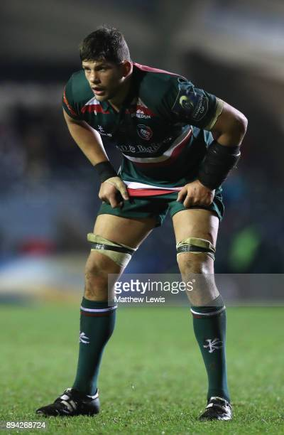 Mike Williams of Leicester Tigers in action during the European Rugby Champions Cup match between Leicester Tigers and Munster Rugby at Welford Road...