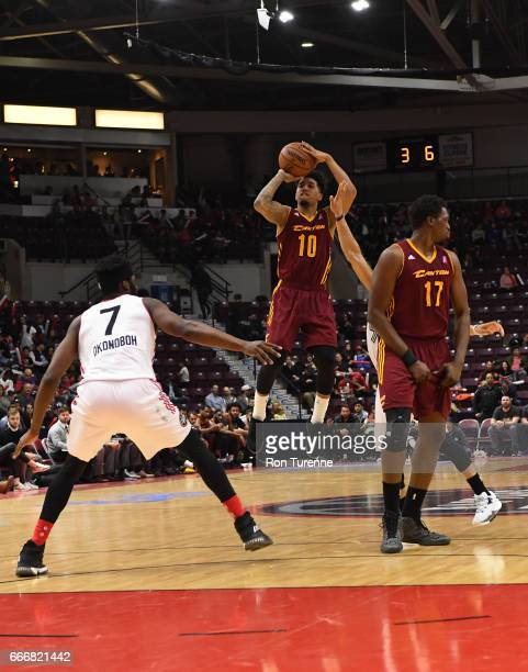 Mike Williams of the Canton Charge goes up for the shot during the game against the Raptors 905 at the Hershey Centre on April 8 2017 in Mississauga...