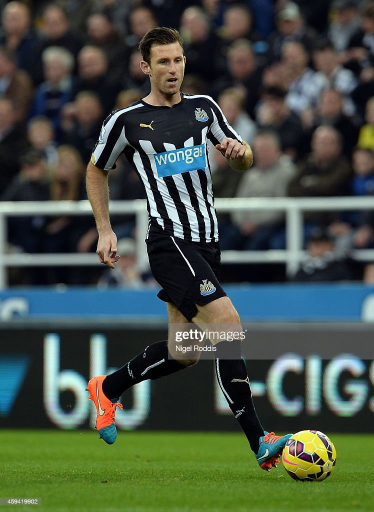 Mike Williamson of Newcastle United during the Barclays Premier League football match between Newcastle United and Queeens Park Rangers at St James' Park on November 22, 2014 in Newcastle upon Tyne, England.
