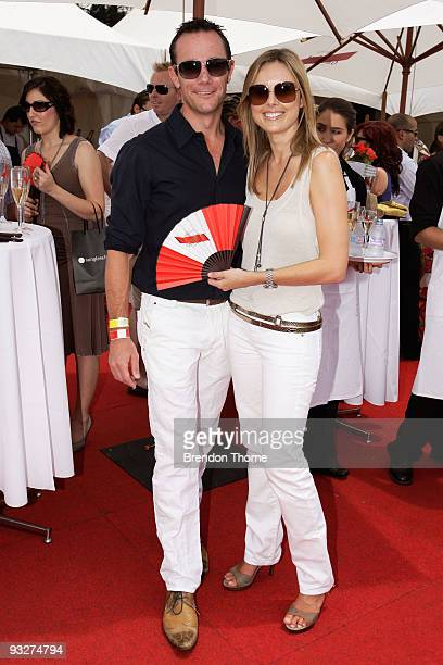 Mike Willis and Allison Langdon arrive for the Paspaley Polo In The City in Centennial Park on November 21 2009 in Sydney Australia