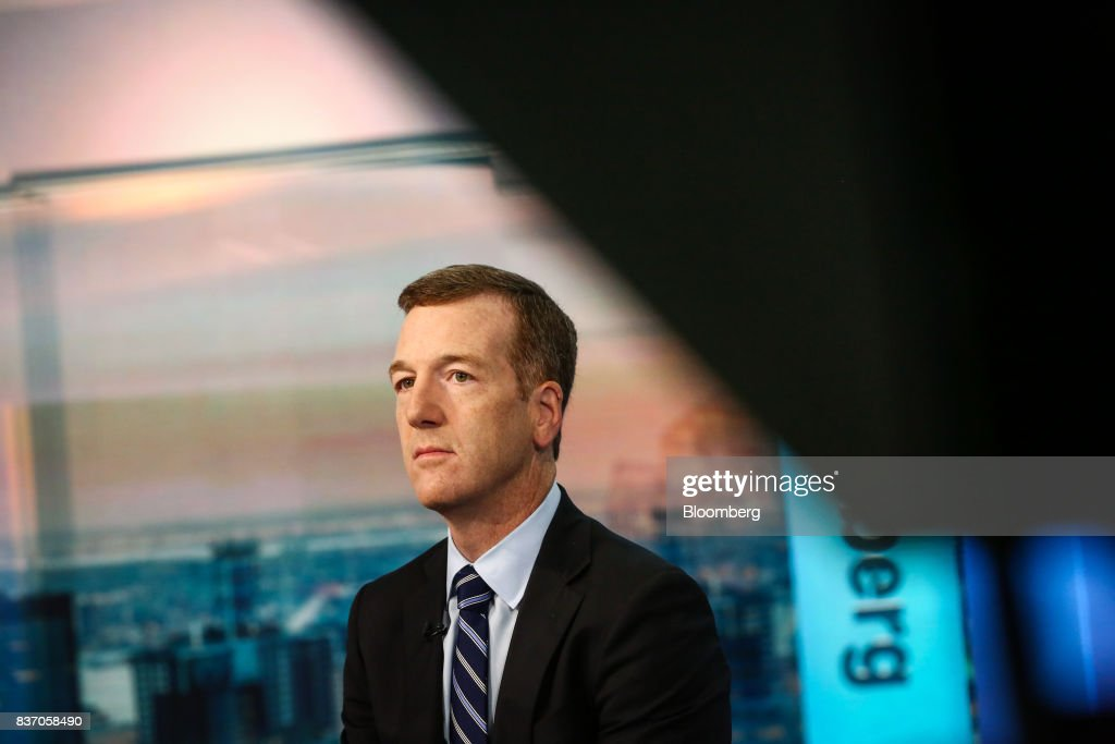 Mike Wilson, chief U.S. equity strategist at Morgan Stanley & Co., listens during a Bloomberg Television interview in New York, U.S., on Tuesday, Aug. 22, 2017. Wilson discussed growing calls for caution in the markets and his thoughts on investing. Photographer: Christopher Goodney/Bloomberg via Getty Images