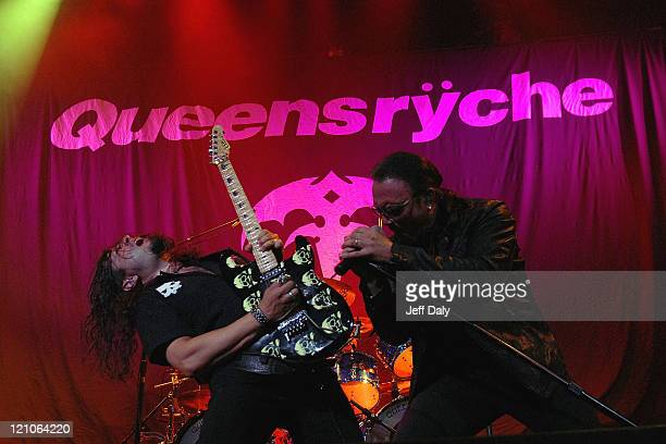 Mike Wilton and Geoff Tate of Queensrÿche perform live at the Bank Atlantic Center on September 15 2007 in Sunrise Florida