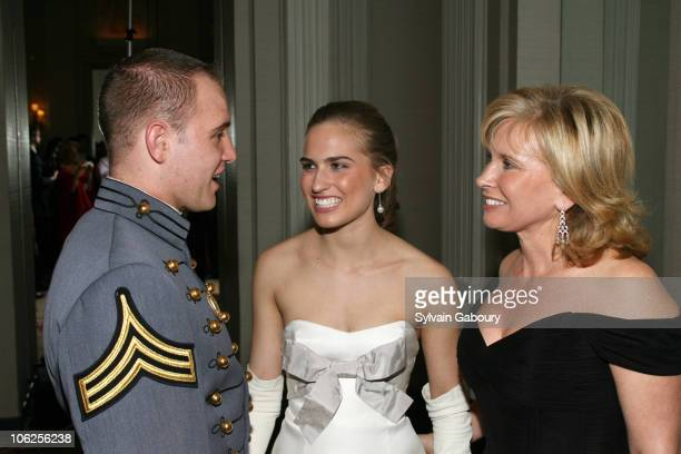 Mike Wolk Ashley Walker Bush and Sharon Bush during The 52nd International Debutante Ball Receiving Line at The Waldorf Astoria in New York City New...