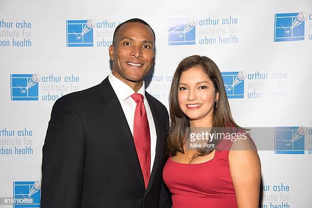 Mike Woods and Ines Rosales attend the 22nd Annual Black Tie Sneakers Gala at Grand Hyatt New York on October 19 2016 in New York City