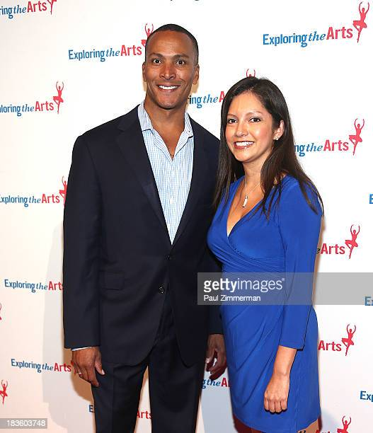 Mike Woods and Ines Rosales attend the 7th annual Exploring the Arts Gala at Cipriani Wall Street on October 7 2013 in New York City