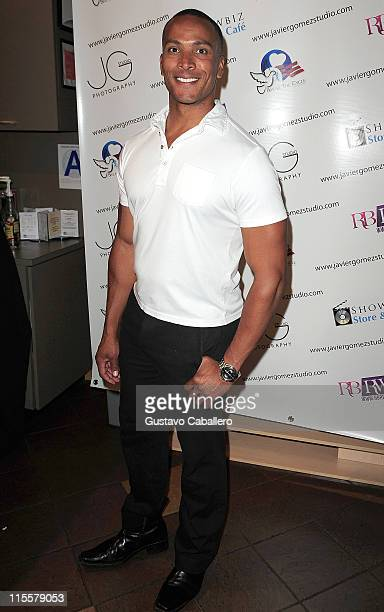 Mike Woods attends a Special Exhibition Party for Photographer Javier Gomez benefiting Strengthen Our Sisters and RBRWOrg at Showbiz Store Cafe on...