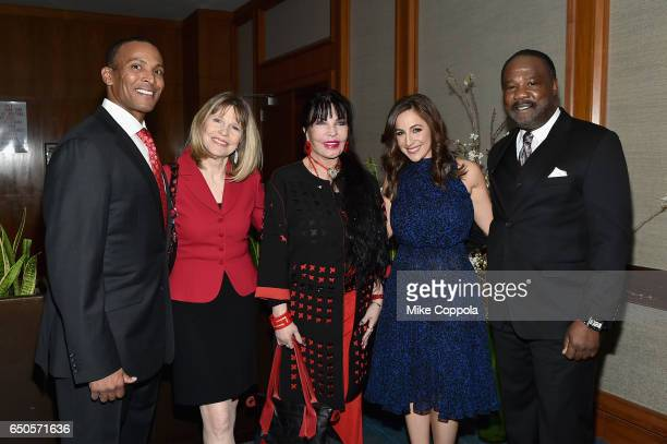 Mike Woods Donna Hanover Loreen Arbus Teresa Priolo and Isiah Whitlock Jr attend UCP of NYC 70th Anniversary Gala on March 9 2017 in New York City